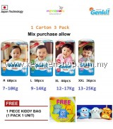3 Mega pack carton GENKI diaper pant (option: M,L,XL,XXL) Free kiddy bag  #MYCYBERSALE