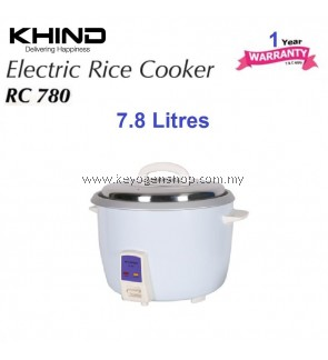 Khind Rice Cooker RC780 Aluminium Inner Pot Auto keep warm function 7.8 liter