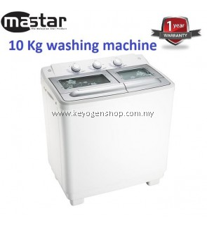Mastar MAS-1005SWM 10KG Semi Auto Washing Machine-1 Year WRTY (WHITE)