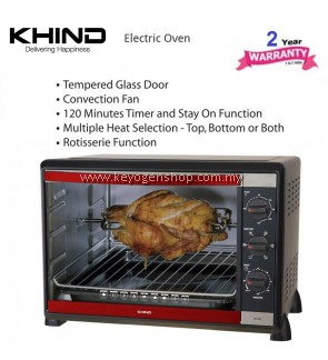 KHIND Electric Oven OT52R 52L - 2 years warranty