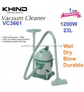 Khind Vacuum Cleaner VC3661 23Liter (Green) - 1 Year Warranty