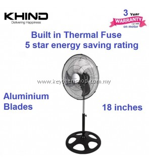 Khind SF1812 18' Industrial Stand Fan- 3 years on motor+1 year general