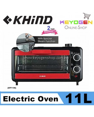 (JULY PROMO WITH FREE GIFT) Khind 11L Electric Oven Toaster OT11H with Special Steam Function (2 Year Warranty)