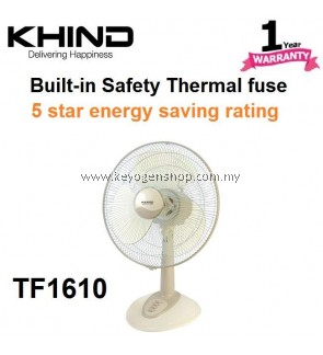 Khind 3 Blades 3 Speeds TF1610 16' Table Fan - 3 Years motor warranty