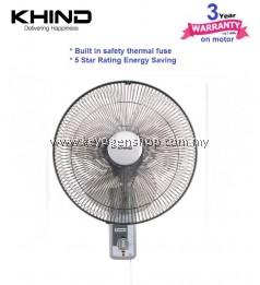 Khind Wall Fan WF1601 (3 Years Warranty) LIGHT GREY - 5 star rating