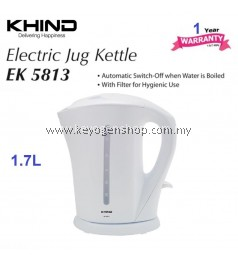 ( Flash Sale ) KHIND EK5813 jug kettle 1.7 Litre - water level indicator - 1 yr wrty