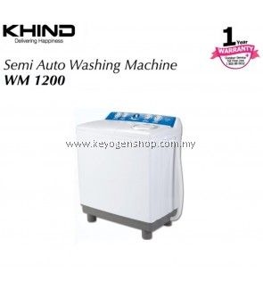 New Khind WM1200 semi auto washing machine - 12kg wash capasity