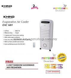 Khind Evaporative Air Cooler EAC600 with Remote Control - 6L tank FREE 1 Unit Random Goodmaid Air Freshener