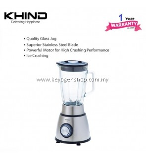 khind BL15G Blender - ice crushing - 1.5L glass jug - powerful motor