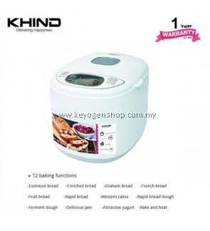 KHIND Bread Maker Model BM500 - 12 baking function - energy save