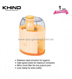 KHIND Juice Extractor JE250 -1year warranty - stainless steel shredder