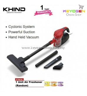 (FREE SHIPPING) Khind Handheld Vacuum Cleaner Model VC8211 powerful suction FREE 1 Unit Air Freshener (Random)