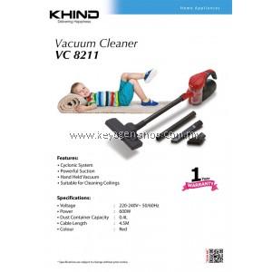 (FREE SHIPPING) Khind Handheld Vacuum Cleaner Model VC8211 powerful suction FREE 1 Unit Air Freshener (Random)
