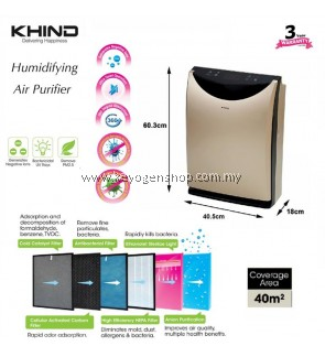 Khind premium Multiple Filtering Air Purifier HAP40 WITH MIST function
