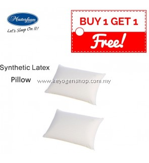 Free Shipping buy 1 free 1 Masterfoam Synthetic Latex Foam Pillow #MYCYBERSALE