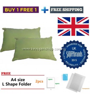 Silentnight (UK No1 brand) 2pcs cotton pillow promotion free 2 L file