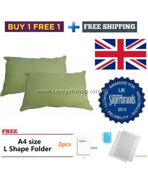 Silentnight (UK No1 brand) 2pcs cotton pillow promotion free 2 L file
