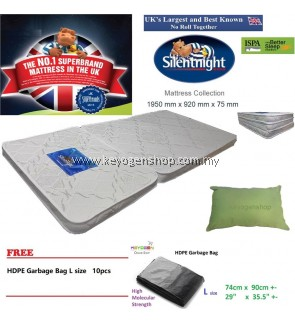 UK brand Silentnight foldable Mattress + Pillow Combo free L Gbag 10pc