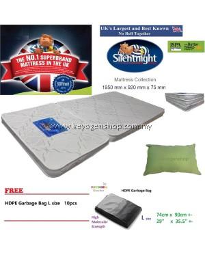 UK brand Silentnight foldable Mattress + Pillow Combo free L Gbag 10pc