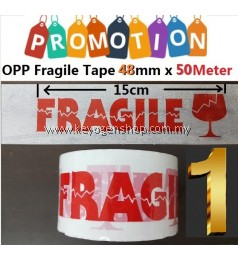 Free Delivery 1pc Fragile tape 48mm x 50Meter [ Plastic OPP Packing ]