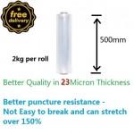 Free Shipping 1pc Stretch Film luggage wrap 500mm x 2Kg T23micron
