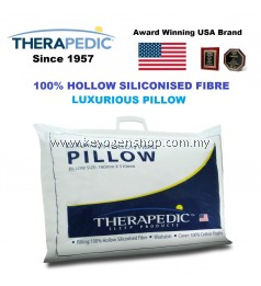Free delivery USA leading Brand Therapedic 100% hollow siliconised fibre pillow
