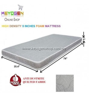 Free Delivery 1 year warranty 5 inches single bed mattress - high density foam