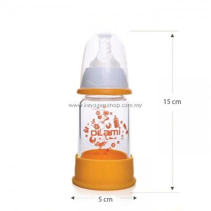 Dlami ( italy brand ) D13 BPA free break resistant glass milk bottle
