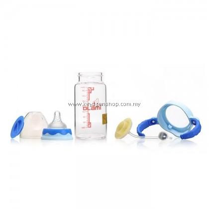Dlami ( italy brand ) D03 BPA free break resistant glass milk bottle