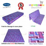 Free Delivery New Masterfoam Queen Fold Mattress ( 5 years warranty )