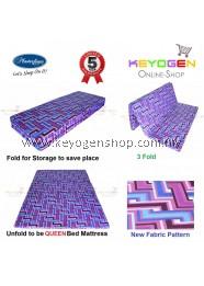 Free Delivery New Masterfoam Queen Fold Mattress ( 5 years warranty )