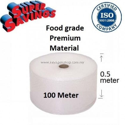 (self collect) 100meter Bubble Wrap Food grade 0.5 meter 500mm width