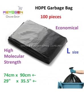 Free delivery HDPE Garbage Bag L 74cm x 90cm - 100pcs
