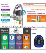 Free Shipping BigAnt Water Purifer Combo extra Filter PLUS free Khind insect killer #MYCYBERSALE