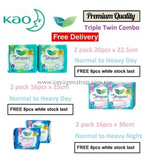 Free delivery Laurier Triple twin premium grade sanitary pad combo