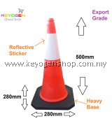 Export grade 500mm parking cone traffic block reflective safety -ready stock #MYCYBERSALE