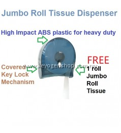 Free delivery Heavy duty Transparent Tissue Roll Dispenser + Jumbo roll tissue paper #MYCYBERSALE