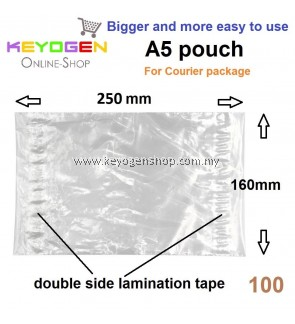100pcs plastic Courier consignment note bill A5 pocket pouch bag