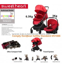 Free Shipping Sweet Heart Paris baby stroller and car seat Combo - ST TESORO #MYCYBERSALE