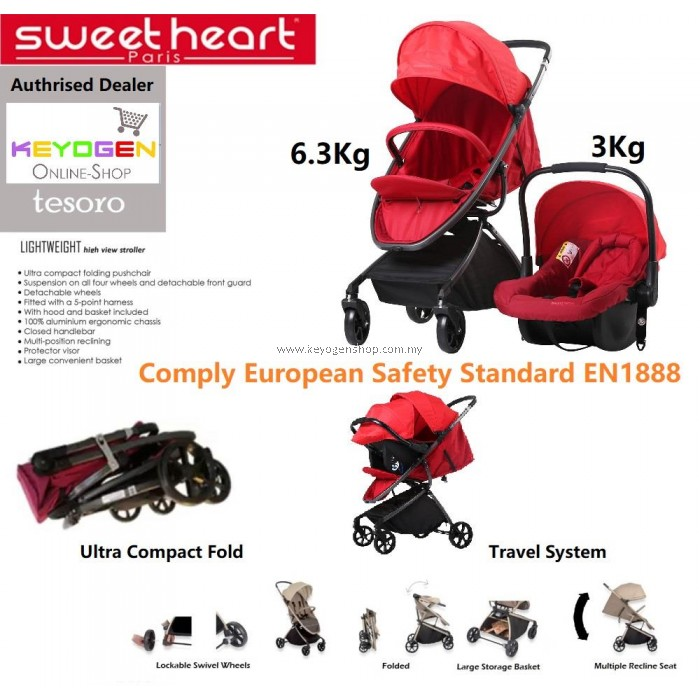 Free Shipping Sweet Heart Paris Baby Stroller And Car Seat Combo
