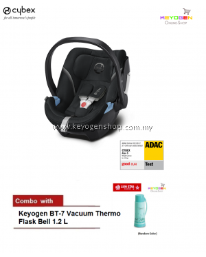 Free Shipping CYBEX ATON5 Infant Car Seat (BLACK) - Cybex COMBO BT7 Vaccuum Flask #MYCYBERSALE