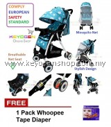 Free Shipping Keyogen Baby stroller 0 - 4 year - export european - comply EN1888 FREE 1 Pack Whoopee Tape Diaper #MYCYBERSALE