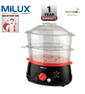 Milux 2-In-1 Food Steamer MFS-8001 With Steam/Stew Selection Switch - 1 Year Warranty PROMOTION