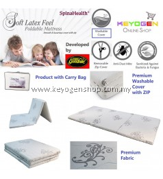 Free Shipping Goodnite spinahealth Latex Feel Fold mattress with washable cover #MYCYBERSALE