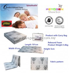 Free Shipping Goodnite Spinahealth Rebond Foam Foldable Mattress with carry bag #MYCYBERSALE