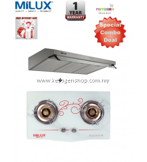 Milux SPECIAL COMBO Slim Hood MHS-S430 + Milux Cooker Hob MGH-222 - 1 year Warranty - Free Mystery Gift