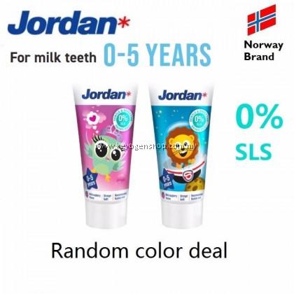 (NORWAY BRAND) Jordan Kids Toothpaste 0-5 years for milk teeth