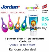 (FREE SHIPPING) Jordan Step 1 Toothbrush 0-2 Years COMBO Toothpaste
