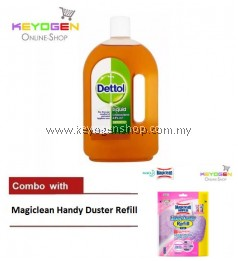 Keyogen 1unit Dettol Antiseptic 750ml COMBO Magiclean Handy Duster refill