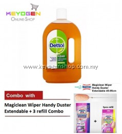 FREE SHIPPING Keyogen 1unit Dettol Antiseptic 750ml COMBO Magiclean Handy Duster Set
